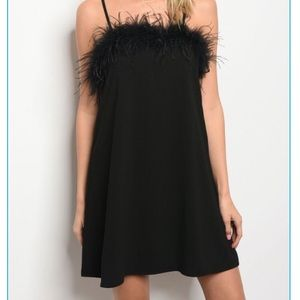 Black feather dress